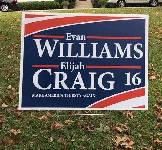 Evan Williams, Elijah Craig Kick Off Presidential Campaign
